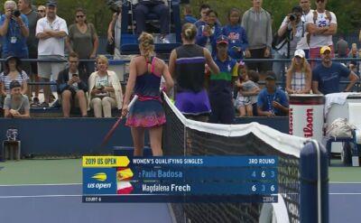 Skrót meczu Fręch - Badosa w trzeciej rundzie kwalifikacji do US Open