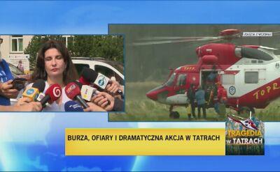 Szpital w Zakopanem o personelu udzielającym pomocy rannym