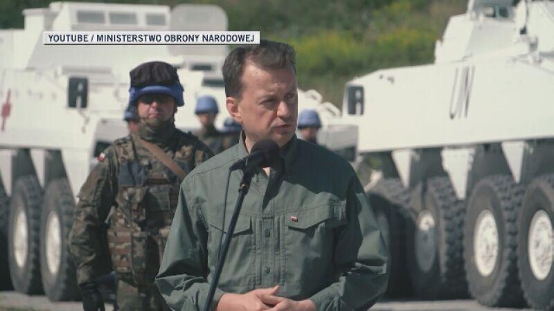 Szef MON Mariusz Błaszczak o misji polskich żołnierzy w Libanie w ramach sił pokojowych ONZ