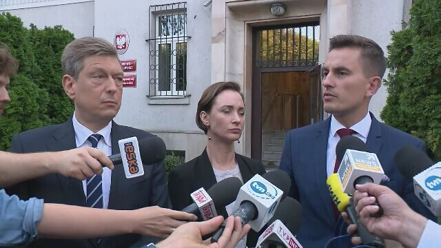 Posłowie PO-KO po spotkaniu z wiceministrem sprawiedliwości Michałem Wójcikiem