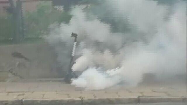 Strażacy musieli gasić baterię dwa razy