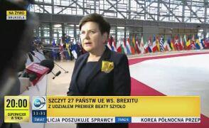 Beata Szydło na szczycie UE w sprawie Brexitu