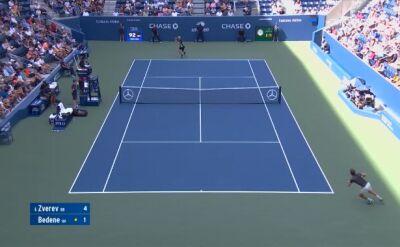 Skrót meczu Zverev - Bedene w 3. rundzie US Open