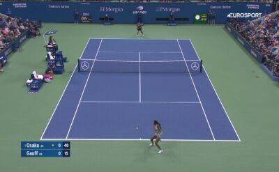 Skrót meczu Osaka - Gauff w 3. rundzie US Open