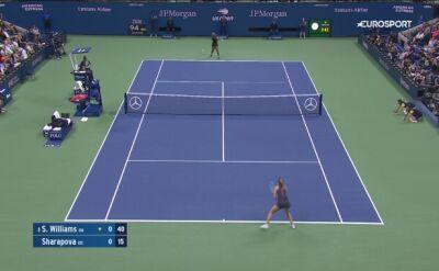 Skrót meczu Szarapowa - S. Williams w 1. rundzie US Open