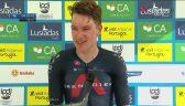 Ethan Hayter po wygraniu 2. etapu Volta ao Algarve