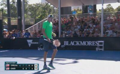 Skrót meczu Isner - Opelka w meczu 1. rundy Australian Open