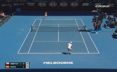Skrót meczu Nadal - Berdych w 4. rundzie Australian Open