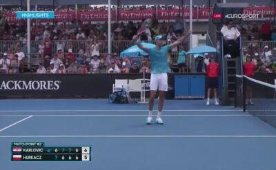 Skrót meczu Karlović - Hurkacz w 1. rundzie Australian Open