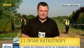 Reporter TVN24 o okolicznościach katastrofy samolotu