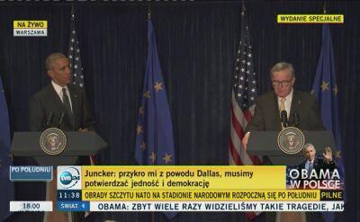 Juncker: USA, NATO i UE to filary światowego porządku