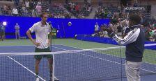 Rozmowa z Miedwiediewem po wygranej w 2. rundzie US Open