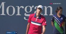 US Open. Hubert Hurkacz wygrał 1. seta w meczu z Andreasem Seppim