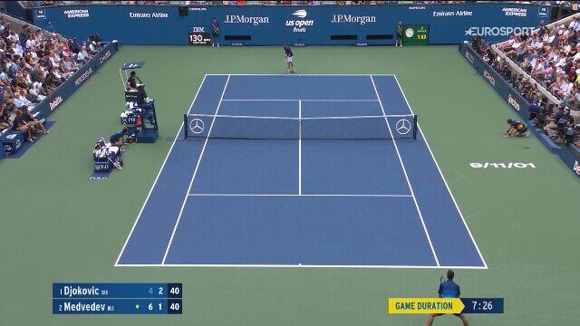 Novak Djoković łamie rakietę w finale US Open
