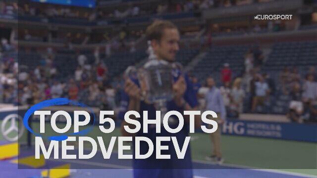 Pięć najlepszych akcji Daniiła Miedwiediewa w turnieju US Open