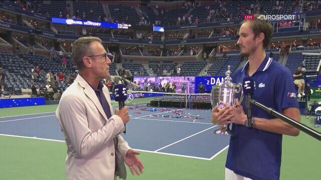 Miedwiediew o meczu z Djokoviciem w finale US Open