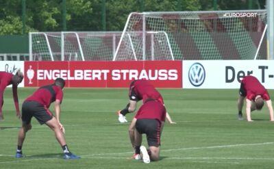 Piłkarze RB Lipsk trenują przed finałem Pucharu Niemiec