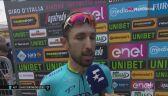 Cataldo po wygraniu 15. etapu Giro d'Italia