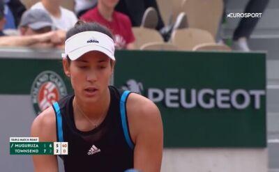Skrót meczu Muguruza - Townsend w pierwszej rundzie Roland Garros