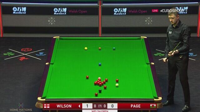 Maksymalny break Kyrena Wilsona w 1. rundzie Welsh Open