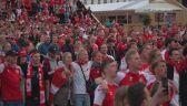Radość duńskich kibiców w trakcie i po meczu z Rosją