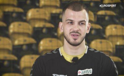 Arciom Karalek przed meczem Łomża Vive Kielce - MOL-Pick Szeged