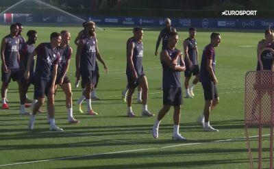 Trening PSG przed meczem z Atalantą Bergamo