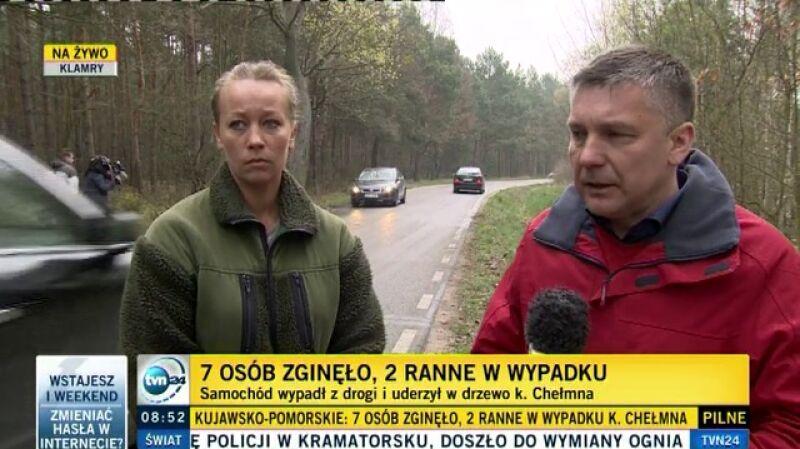 Magdalena Jaskóła-Arent była pierwsza na miejscu wypadku