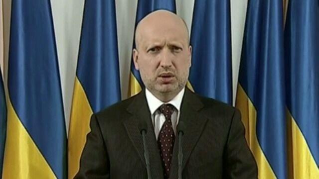 Ołeksandr Turczynow o operacji antyterrorystycznej na wschodzie Ukrainy