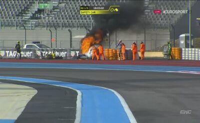 Kraksa i pożar w wyścigu Bol d'Or