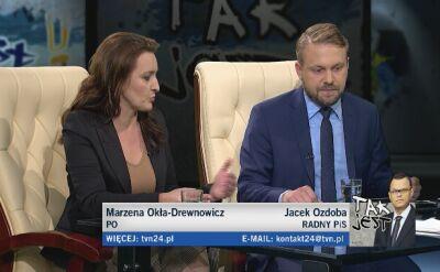 Marzena Okła-Drewnowicz i Jacek Ozdoba w Tak Jest