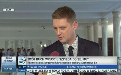 Rozenek: nikt z pracowników klubu nie pamięta Stanisława Sz.