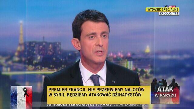 Premier Francji: Będziemy atakować dżihadystów