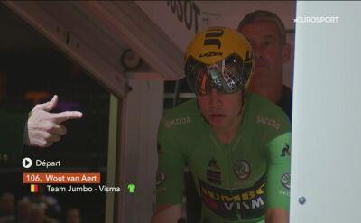 Zwycięski przejazd Wouta Van Aerta na czasówce