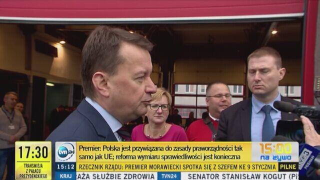 Mariusz Błaszczak komentuje decyzję Komisji Europejskiej