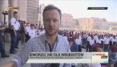 Wysłannik TVN24 przed zamkniętym dworcem w Budapeszcie