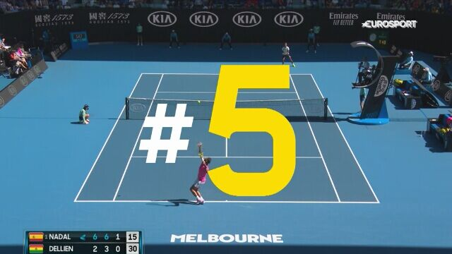 TOP 5 zagrań 2. dnia Australian Open