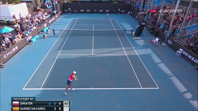 Iga Świątek wygrała z Carlą Suarez Navarro w 2. rundzie Australian Open
