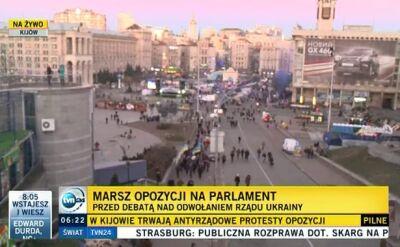 Marsz opozycji na parlament