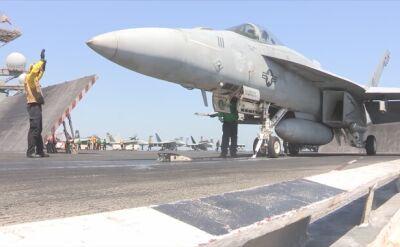 Myśliwce F/A-18 Super Hornet należące do US Navy