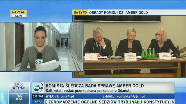 Komisja śledcza bada sprawę Amber Gold