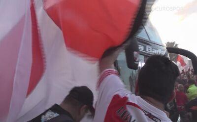 Kibice River Plate i Boca Juniors przed meczem w Copa Libertadores
