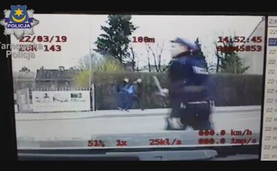 Pościg nagrała policyjna kamera