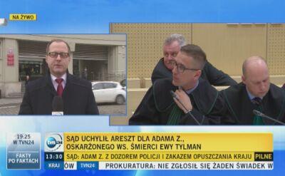 Sąd uchylił areszt dla Adama Z.