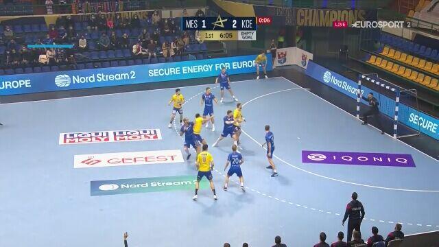 Najciekawsze momenty meczu Mieszkow Brześć - Łomża Vive Kielce w Lidze Mistrzów