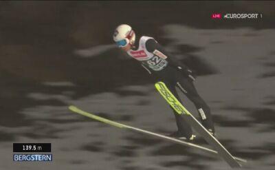 Skok Kamila Stocha z 2. serii konkursu w Lillehammer