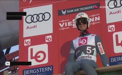 Skok Piotra Żyły z kwalifikacji w Trondheim