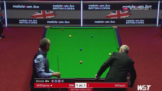 """Pierwsza """"setka"""" Williamsa w British Open. Dopiero w 3. frejmie finału"""