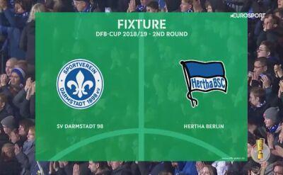 Hertha Berlin - SV Darmstadt, skrót meczu 2. rundy Pucharu Niemiec