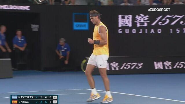 Skrót meczu Nadal - Tsitsipas w półfinale Australian Open